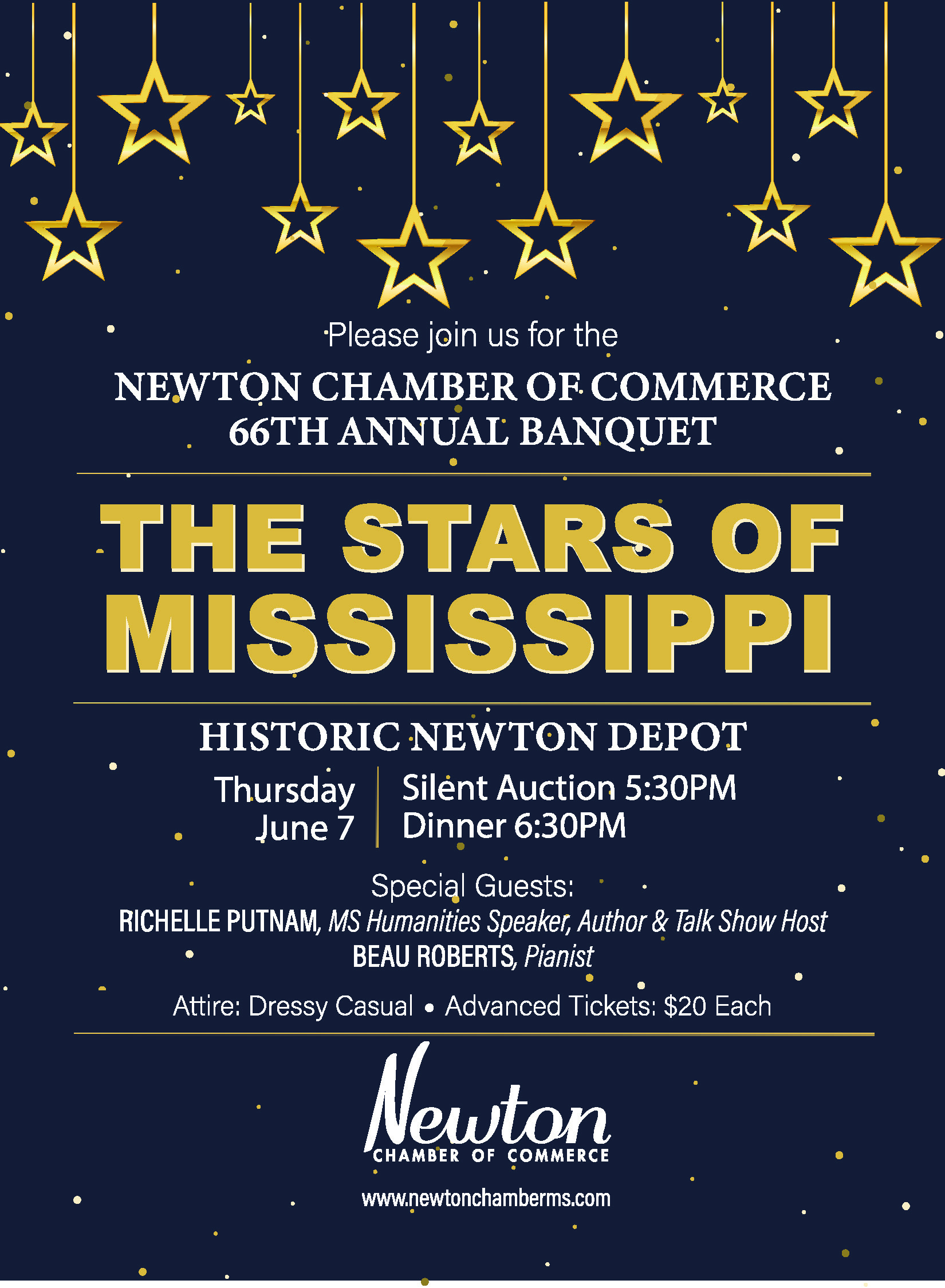 66th Annual Chamber Banquet @ Historic Newton Depot | Newton | Mississippi | United States