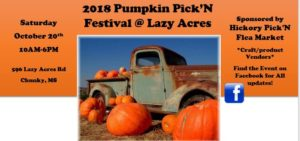 Pumpkin Pick'N Festival @ Lazy Acres | Chunky | Mississippi | United States