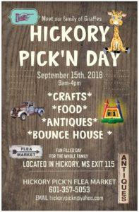 Hickory Pick'N Day @ Hickory Pick'N Flea Market | Hickory | Mississippi | United States