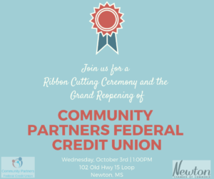 Ribbon Cutting Ceremony for CPFCU @ Community Partners Federal Credit Union | Newton | Mississippi | United States