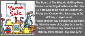 Porch Sale at McElroy-Hoye House @ Historic McElroy-Hoye House | Newton | Mississippi | United States