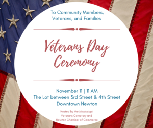 Veterans Day Ceremony @ Downtown Newton