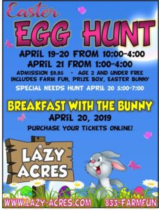 Lazy Acres Easter Egg Hunt @ Lazy Acres