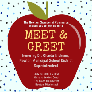 Meet & Greet with Dr. Glenda Nickson, NMSD Superintendent @ Historic Newton Depot