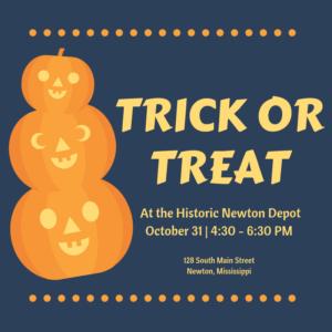 Trick or Treat at the Depot @ Historic Newton Depot