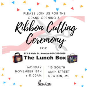 Ribbon Cutting Ceremony for The Lunch Box @ The Lunch Box