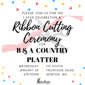 Ribbon Cutting Ceremony for B&A Country Platter @ B&A Country Platter