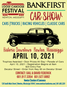2021 BankFirst Car Show at the Loose Caboose Festival @ Newton, MS